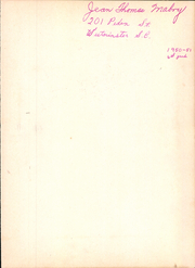 Page 3, 1951 Edition, Westminster High School - Yellow Jacket Yearbook (Westminster, SC) online yearbook collection