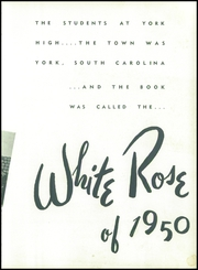 Page 11, 1950 Edition, York High School - White Rose Yearbook (York, SC) online yearbook collection