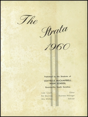 Page 5, 1960 Edition, Leavelle McCampbell High School - Strata Yearbook (Graniteville, SC) online yearbook collection