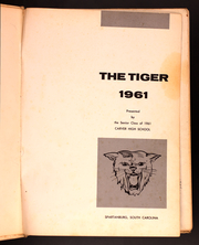 Page 3, 1961 Edition, Carver High School - Tiger Yearbook (Spartanburg, SC) online yearbook collection