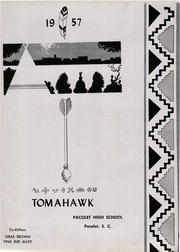Page 5, 1957 Edition, Pacolet High School - Tomahawk Yearbook (Pacolet, SC) online yearbook collection