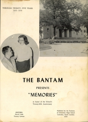 Page 5, 1958 Edition, University High School - Bantam Yearbook (Columbia, SC) online yearbook collection