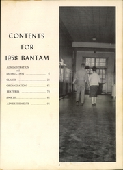 Page 9, 1958 Edition, University High School - Bantam Yearbook (Columbia, SC) online yearbook collection