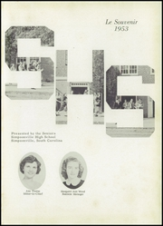 Page 5, 1953 Edition, Simpsonville High School - Le Souvenir Yearbook (Simpsonville, SC) online yearbook collection