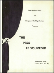 Page 5, 1956 Edition, Simpsonville High School - Le Souvenir Yearbook (Simpsonville, SC) online yearbook collection