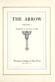 Page 11, 1920 Edition, Due West Female College - Arrow Yearbook (Due West, SC) online yearbook collection