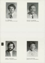 Page 10, 1977 Edition, South Carolina School for the Deaf and the Blind - Hornet Yearbook (Spartanburg, SC) online yearbook collection
