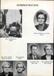 Page 12, 1956 Edition, Holmes Bible College - Echo Yearbook (Greenville, SC) online yearbook collection