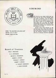 Page 8, 1956 Edition, Holmes Bible College - Echo Yearbook (Greenville, SC) online yearbook collection