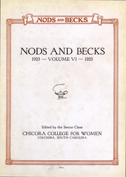 Page 4, 1923 Edition, Chicora College for Women - Nods and Becks Yearbook (Columbia, SC) online yearbook collection