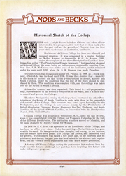 Page 9, 1923 Edition, Chicora College for Women - Nods and Becks Yearbook (Columbia, SC) online yearbook collection