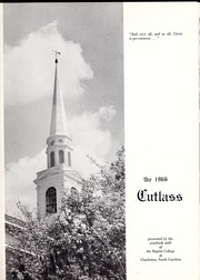 Page 5, 1966 Edition, Baptist College at Charleston - Cutlass Yearbook (Charleston, SC) online yearbook collection