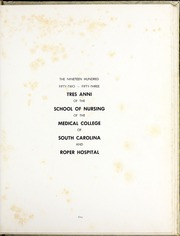 Page 5, 1953 Edition, Medical University of South Carolina - Tres Anni Yearbook (Charleston, SC) online yearbook collection