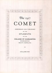 Page 7, 1927 Edition, College of Charleston - Comet Yearbook (Charleston, SC) online yearbook collection
