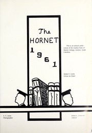 Page 5, 1961 Edition, Morris College - Hornet Yearbook (Sumter, SC) online yearbook collection