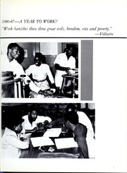 Page 7, 1987 Edition, Morris College - Hornet Yearbook (Sumter, SC) online yearbook collection