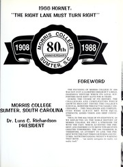 Page 5, 1988 Edition, Morris College - Hornet Yearbook (Sumter, SC) online yearbook collection