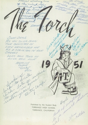 Page 5, 1951 Edition, Torrance High School - Torch Yearbook (Torrance, CA) online yearbook collection