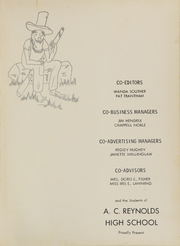 A C Reynolds High School - Cedar Cliff Echoes Yearbook (Asheville, NC) online yearbook collection, 1956 Edition, Page 5