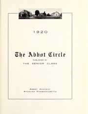 Abbot Academy - Circle Yearbook (Andover, MA) online yearbook collection, 1920 Edition, Page 5
