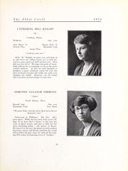 Abbot Academy - Circle Yearbook (Andover, MA) online yearbook collection, 1921 Edition, Page 37