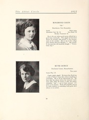 Abbot Academy - Circle Yearbook (Andover, MA) online yearbook collection, 1922 Edition, Page 16