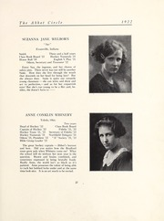 Abbot Academy - Circle Yearbook (Andover, MA) online yearbook collection, 1922 Edition, Page 33 of 128