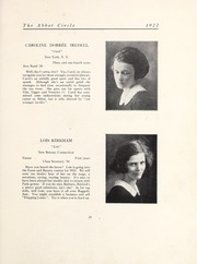 Abbot Academy - Circle Yearbook (Andover, MA) online yearbook collection, 1922 Edition, Page 37
