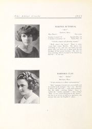 Abbot Academy - Circle Yearbook (Andover, MA) online yearbook collection, 1923 Edition, Page 12