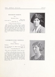 Abbot Academy - Circle Yearbook (Andover, MA) online yearbook collection, 1923 Edition, Page 21