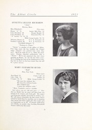 Abbot Academy - Circle Yearbook (Andover, MA) online yearbook collection, 1923 Edition, Page 25