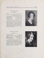 Abbot Academy - Circle Yearbook (Andover, MA) online yearbook collection, 1925 Edition, Page 21 of 116