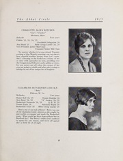 Abbot Academy - Circle Yearbook (Andover, MA) online yearbook collection, 1925 Edition, Page 25 of 116