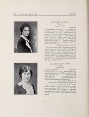 Abbot Academy - Circle Yearbook (Andover, MA) online yearbook collection, 1925 Edition, Page 32