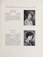 Abbot Academy - Circle Yearbook (Andover, MA) online yearbook collection, 1925 Edition, Page 33