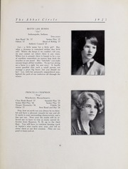Abbot Academy - Circle Yearbook (Andover, MA) online yearbook collection, 1927 Edition, Page 17