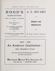 Abbot Academy - Circle Yearbook (Andover, MA) online yearbook collection, 1928 Edition, Page 123