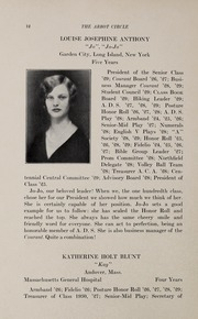 Abbot Academy - Circle Yearbook (Andover, MA) online yearbook collection, 1929 Edition, Page 16