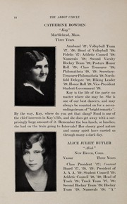 Abbot Academy - Circle Yearbook (Andover, MA) online yearbook collection, 1929 Edition, Page 18 of 156