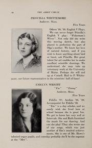 Abbot Academy - Circle Yearbook (Andover, MA) online yearbook collection, 1929 Edition, Page 44