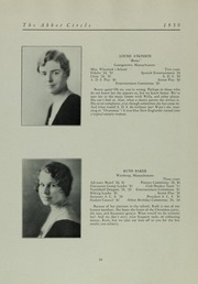 Abbot Academy - Circle Yearbook (Andover, MA) online yearbook collection, 1930 Edition, Page 16