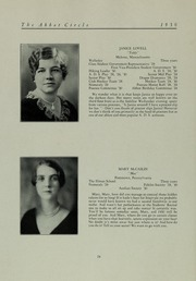 Abbot Academy - Circle Yearbook (Andover, MA) online yearbook collection, 1930 Edition, Page 30