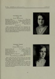 Abbot Academy - Circle Yearbook (Andover, MA) online yearbook collection, 1930 Edition, Page 39