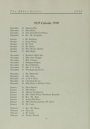 Abbot Academy - Circle Yearbook (Andover, MA) online yearbook collection, 1930 Edition, Page 40