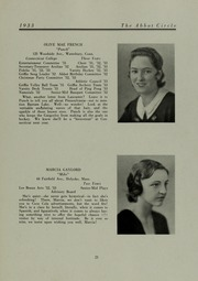 Abbot Academy - Circle Yearbook (Andover, MA) online yearbook collection, 1933 Edition, Page 25