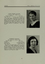 Abbot Academy - Circle Yearbook (Andover, MA) online yearbook collection, 1933 Edition, Page 27