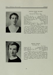 Abbot Academy - Circle Yearbook (Andover, MA) online yearbook collection, 1933 Edition, Page 28 of 108