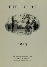 Abbot Academy - Circle Yearbook (Andover, MA) online yearbook collection, 1933 Edition, Page 7