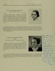 Abbot Academy - Circle Yearbook (Andover, MA) online yearbook collection, 1934 Edition, Page 27