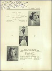 Abbot Academy - Circle Yearbook (Andover, MA) online yearbook collection, 1938 Edition, Page 25 of 124